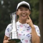 最高の笑顔、全英女子オープン初優勝の渋野日向子プロ