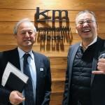 100年企業訪問in KMグループ西川社長